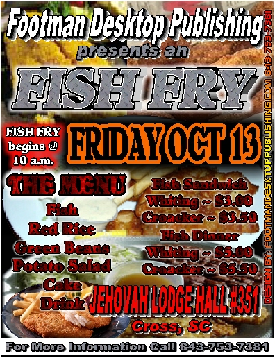 fish fry party flyer oker whyanything co